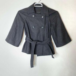 The Limited Womens Pea Coat Size Small Gray Wool